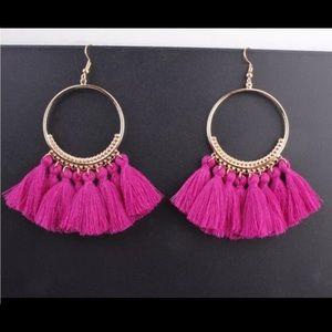 Jewelry - 🚨 5/$20 Rose fringe tassel earrings
